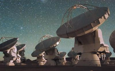 The ALMA telescope is searching