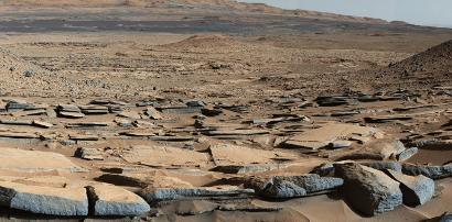 Mars seen by Curiosity. NASA/JPL-Caltech/MSSS