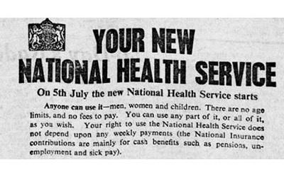NHS leaflet from 1948