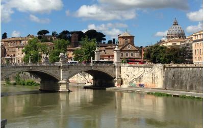 The Ospedale di Santo Spirito in Sassia overlooking the River Tiber
