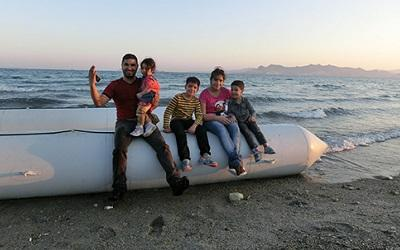 Refugees from Iraq arriving in Kos