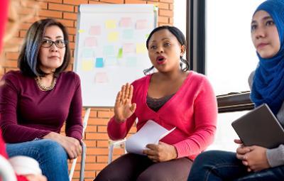 Multiethnic women in a meeting