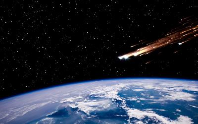 Comets over Earth