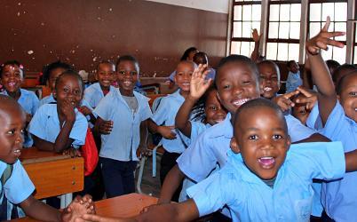 African school children in a classroom