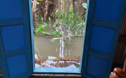 Water outside house