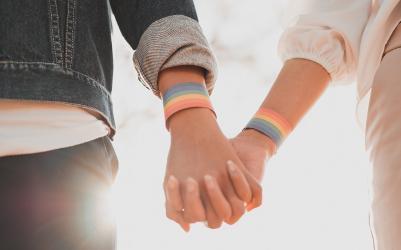 LBG couple holding hands