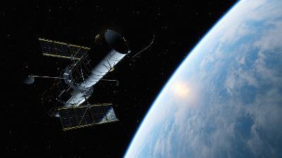 Hubble telescope and Earth