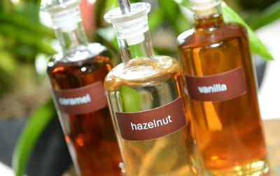 Glass bottles with flavourings