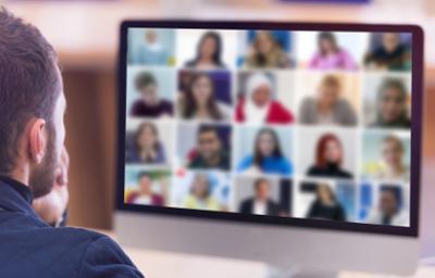 Teacher and online class
