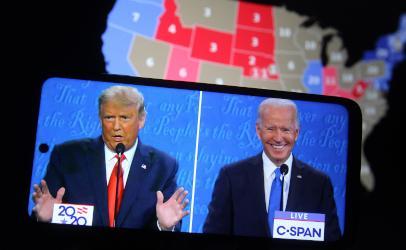 Trump and Biden election campaign