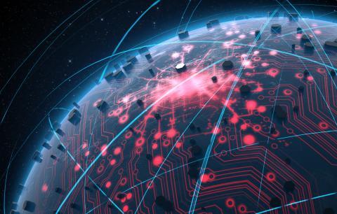 Shutterstock 327258932 Glowing dataa circuit network