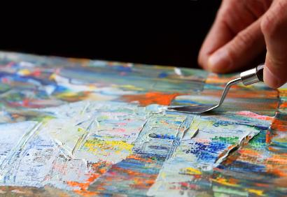 Art painting with a palette knife