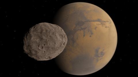 shutterstock-542300764 Mars and Phobos