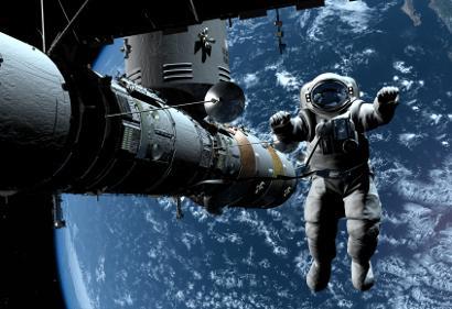 Shutterstock-56121424 Astronaut in space
