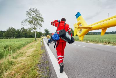 Emergency response team in action