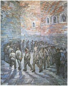 Prisoners' Round, painted by Vincent van Gogh, February 1890.