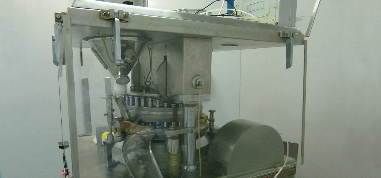 Machine used in pharmaceutical production