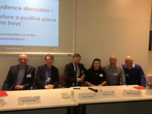 Martin Robb, second from left, with conference panellists