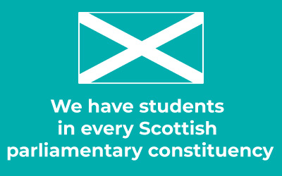We have students in every Scottish parliamentary constituency