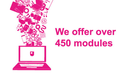 Stat graphic - we offer over 450 modules