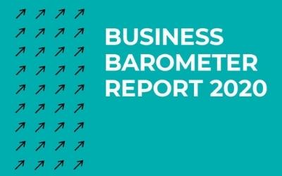 Graphic reading 'Business Barometer Report 2020'