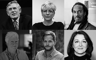 Gordon Brown, Carrie Gracie, Benjamin Zephania, Val McDermid, Daniel Shand, Catherine Simpson