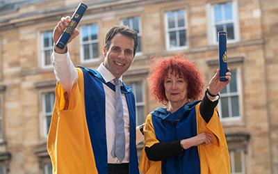 Honorary graduates Mark Beaumont and Dame Ruth Silver