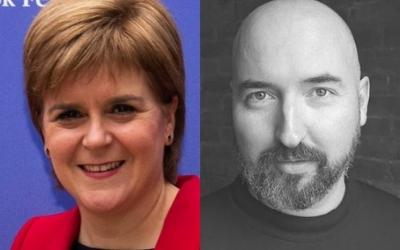Nicola Sturgeon and Douglas Stuart