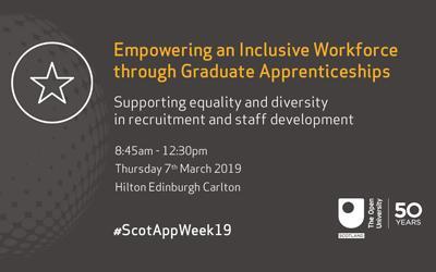 Event graphic - Empowering an Inclusive Workforce through Graduate Apprenticeships
