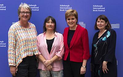 Susan Stewart, Ali Smith, Nicola Sturgeon and Mary Kellett