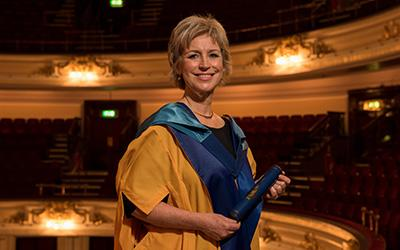 Sally Magnusson, OU Honorary Graduate and founder of the charity Playlist for Life