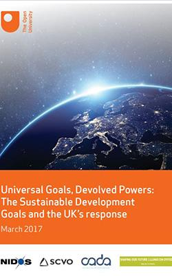 Universal goals and sustainable development report cover