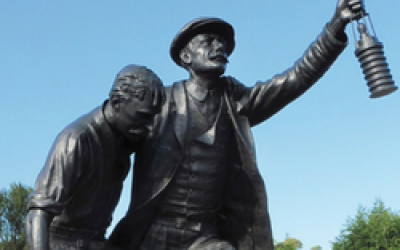 Statue of historical Welsh figures