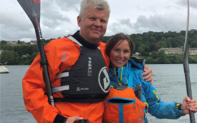 Adrian Chiles and Sian Sykes